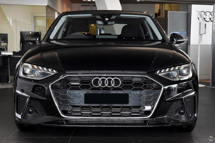 2021 Audi A4 45 TFSI S line B9 MY21 Four Wheel Drive Mythos Black