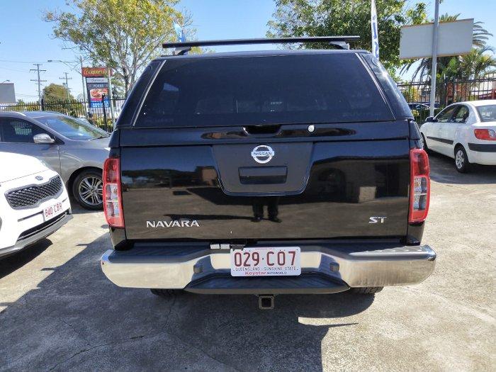 2014 Nissan Navara ST D40 Series 6 4X4 Midnight Black