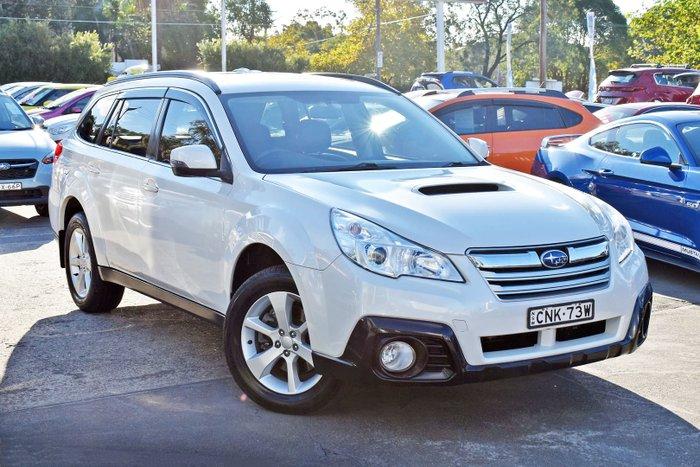 2013 Subaru Outback 2.0D Premium 4GEN MY13 AWD Satin White Pearl