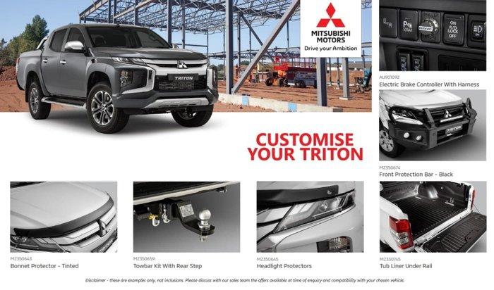 2020 Mitsubishi Triton GSR MR MY21 4X4 Dual Range White Diamond with Black Roof