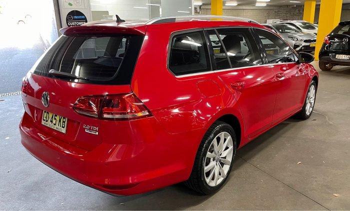 2015 Volkswagen Golf 110TDI Highline 7 MY15 Sunset Red