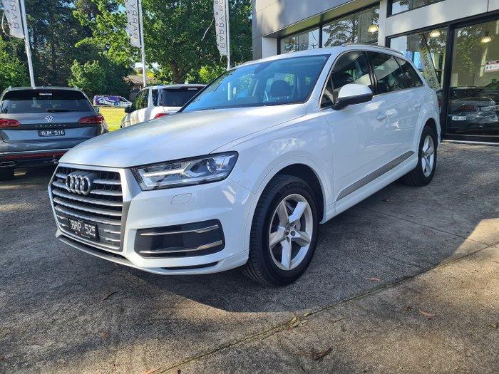 2018 Audi Q7 TDI 4M MY18 Four Wheel Drive Carrara White