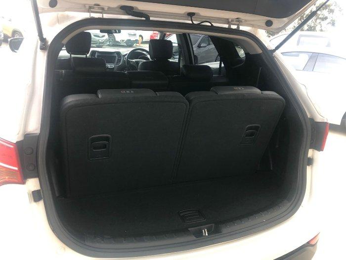 2014 Hyundai Santa Fe Highlander DM MY14 4X4 On Demand WHITE