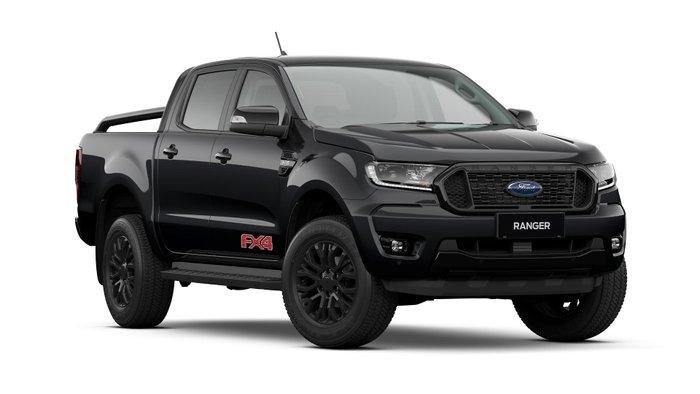 2021 Ford Ranger FX4 PX MkIII MY21.75 4X4 Dual Range Shadow Black