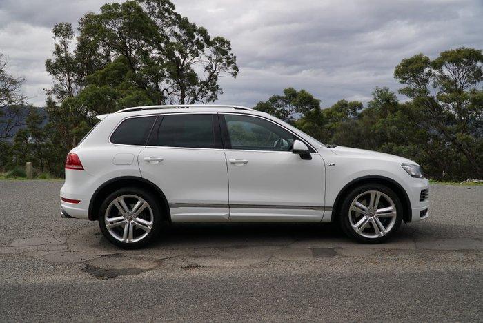 2013 Volkswagen Touareg V8 TDI R-Line 7P MY13 Four Wheel Drive Pure White