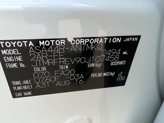 2016 Toyota RAV4 GXL ASA44R AWD
