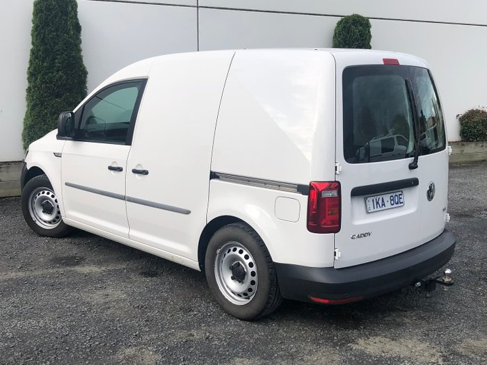 2018 Volkswagen Caddy TSI160 Runner 2KN MY18 Candy White