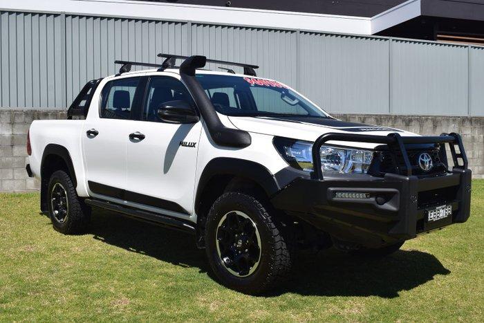 2018 Toyota Hilux Rugged GUN126R 4X4 Dual Range Glacier White