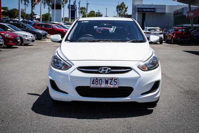 2016 Hyundai ACCENT RB4 ACCENT HATCH 1.4P ACTIVE AUTO (SBS6K461VDD901) Crystal White