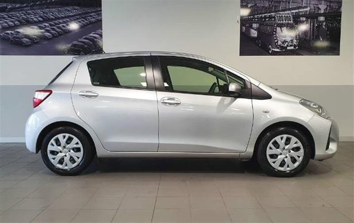2018 Toyota Yaris Ascent NCP130R Silver Pearl