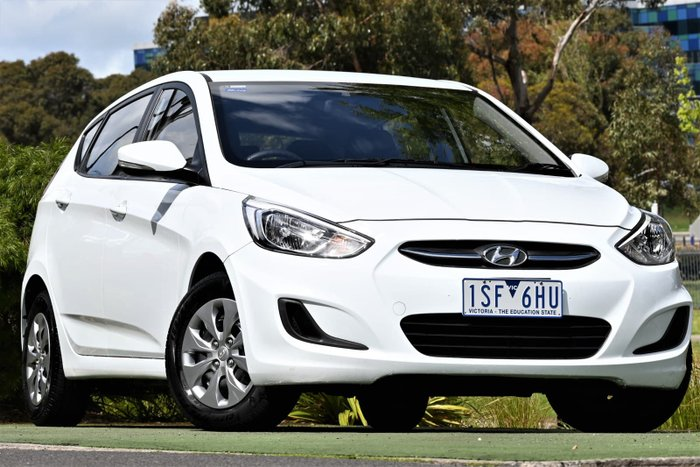 2017 Hyundai Accent Active RB4 MY17 Crystal White