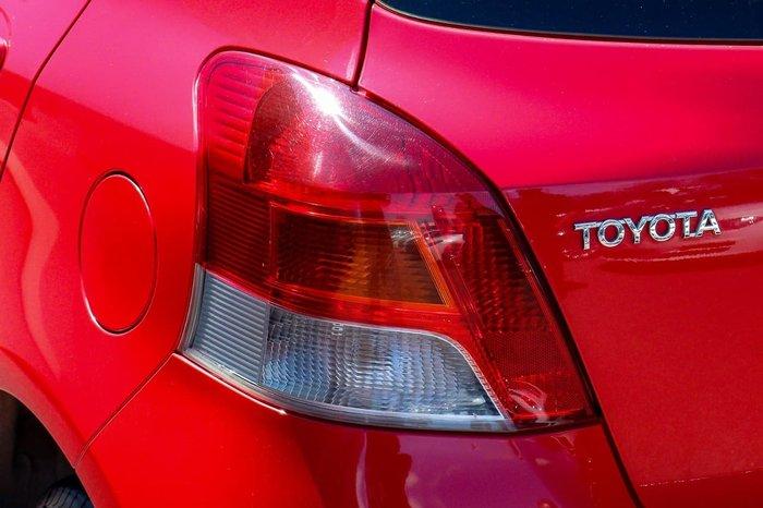 2010 Toyota Yaris YR NCP90R MY10 Red