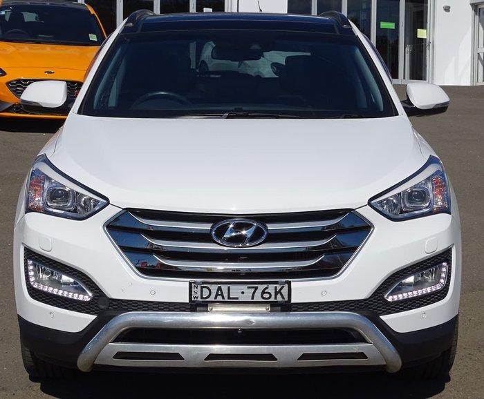2015 Hyundai Santa Fe Highlander DM2 MY15 4X4 On Demand Creamy White