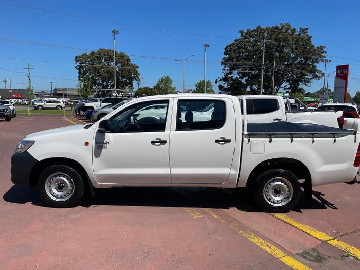 2015 Toyota Hilux Workmate TGN16R MY14 Glacier White