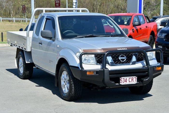 2012 Nissan Navara RX D40 Series 6 4X4 Silver