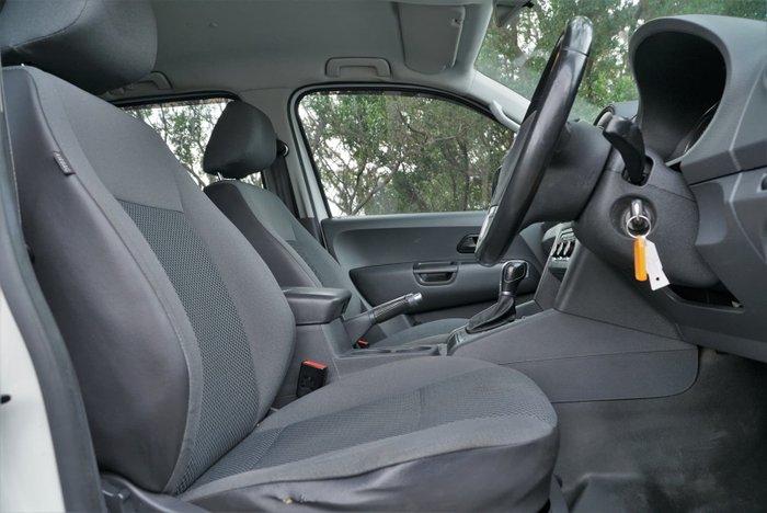 2014 Volkswagen Amarok TDI420 Trendline 2H MY14 4X4 Constant Candy White