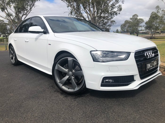 2014 Audi A4 S Line B8 MY14 Four Wheel Drive White