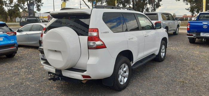 2014 Toyota Landcruiser Prado GXL KDJ150R MY14 4X4 Dual Range WHITE