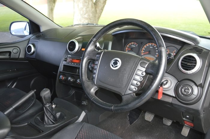 2008 SSANGYONG ACTYON SPORTS SPORTS DUAL CAB 100 SERIES MY08 BLACK