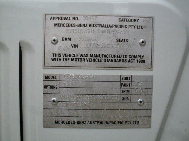 2008 Mitsubishi Canter FUSO DUAL CAB T/TOP SIDES BOX WHITE