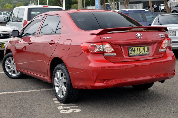 2011 TOYOTA COROLLA ASCENT SPORT ZRE152R Red
