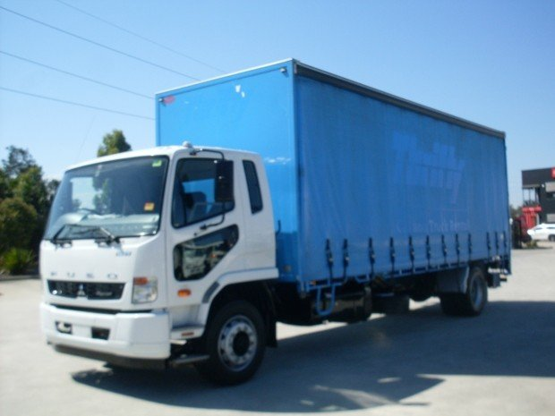 2013 Mitsubishi Fighter 1627 FUSO 1627 CURTAINSIDER T/GATE WHITE