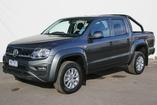 2018 VOLKSWAGEN AMAROK TDI420 CORE PLUS DUA 2H MY18 INDIUM GREY