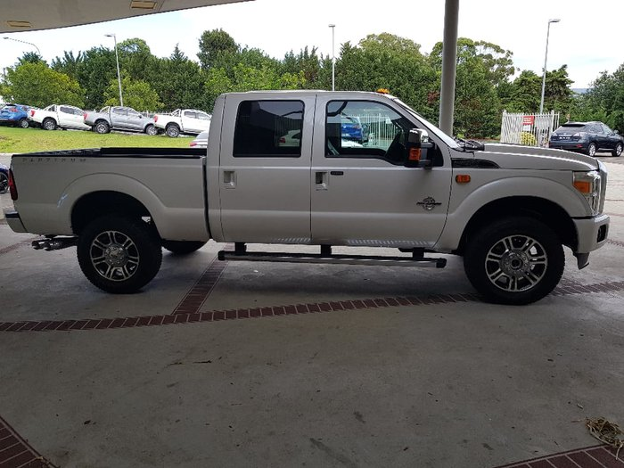 2016 FORD F250 SD PLATINUM (No Series) White