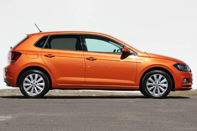 2018 VOLKSWAGEN POLO 85TSI LAUNCH EDITION 6R MY18 ENERGETIC ORANGE