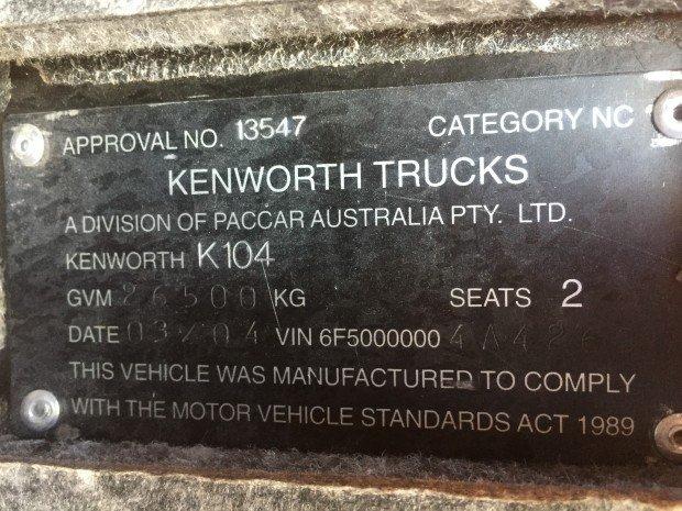 2004 Kenworth K104 K104