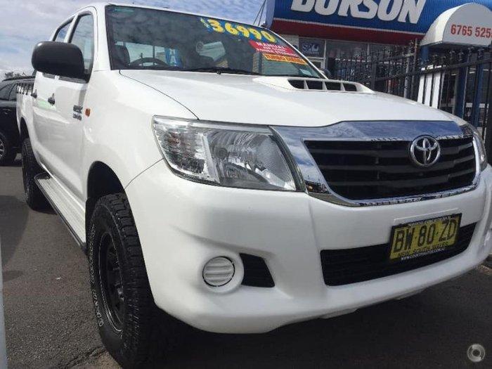 2013 Toyota Hilux SR KUN26R MY14 WHITE