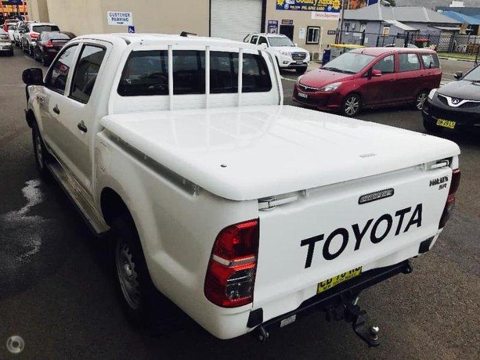 2014 Toyota Hilux SR KUN26R MY14 GLACIER WHITE