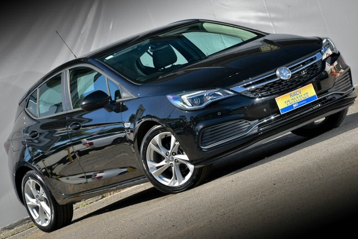 2016 HOLDEN ASTRA RS BK MY17 MINERAL BLACK