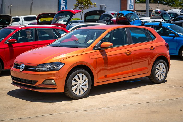 2019 Volkswagen Polo 70TSI Trendline 1.0L T/P 7Spd DSG 5Dr Hatch Energetic Orange Metallic