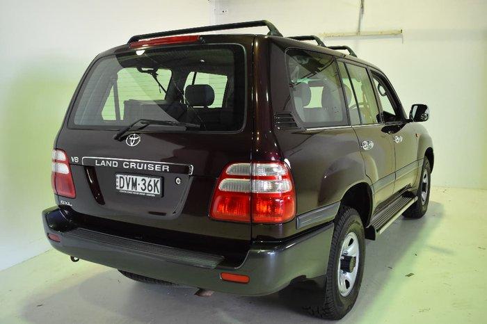 2004 TOYOTA LANDCRUISER GXL UZJ100R Burgundy