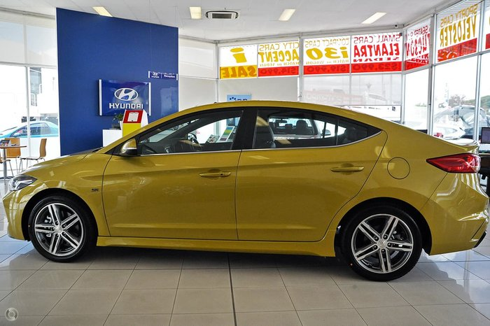 2018 HYUNDAI ELANTRA SR TURBO AD Yellow