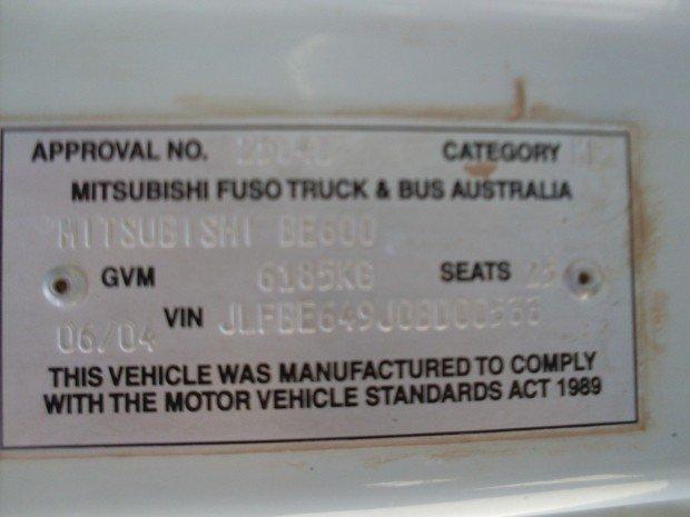 2004 Mitsubishi Rosa FUSO ROSA STANDARD WHITE