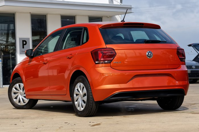 2019 Volkswagen Polo 70TSI Trendline 1.0L T/P 5Spd Man 5Dr Hatch Energetic Orange Metallic