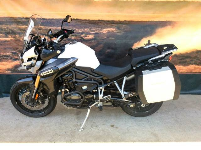 2014 TRIUMPH TIGER EXPLORER WIRE WHEEL DUAL PURPOSE WHITE