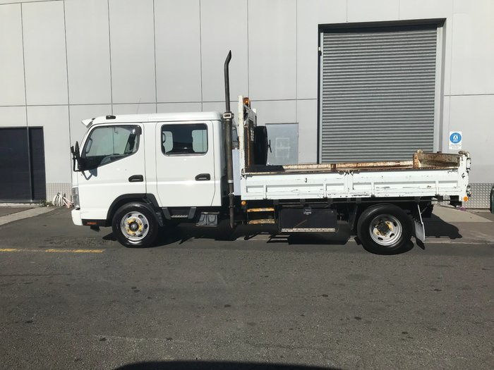 2007 Fuso FE85P CANTER DUAL CAB TIPPER WHITE
