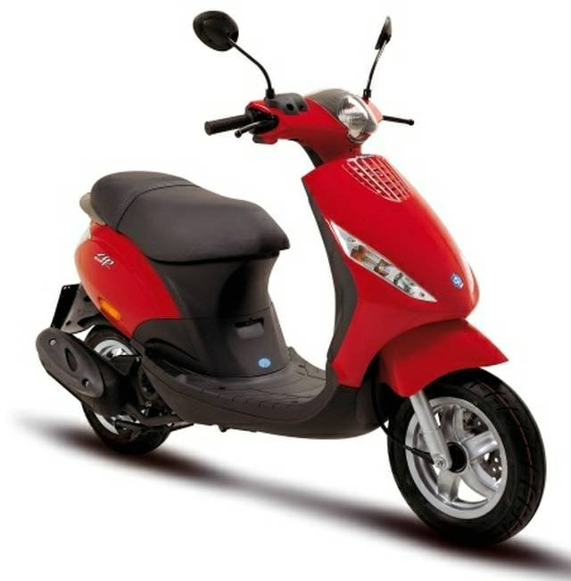 2017 PIAGGIO ZIP 50 2T SCOOTER RED