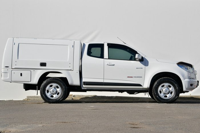 2014 HOLDEN COLORADO LX EXTENDED CAB RG MY14 SUMMIT WHITE
