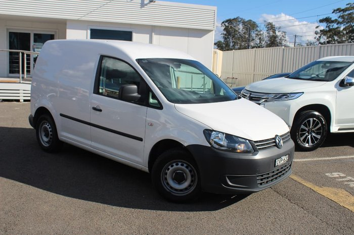 2014 VOLKSWAGEN CADDY TDI250 BlueMOTION 2KN White