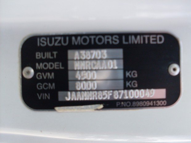 2008 Isuzu NNR200 SERVICE TOOL TABLE TOP WHITE