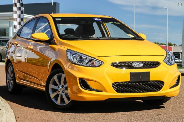 2017 HYUNDAI ACCENT Sport RB6 Yellow