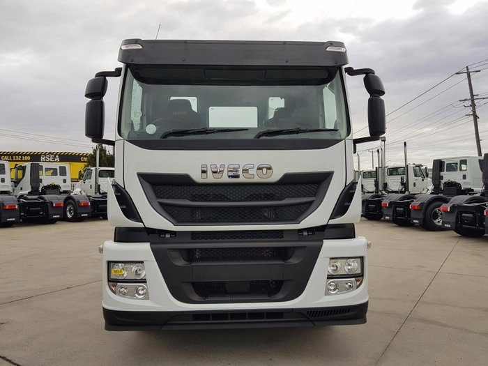 2018 Iveco Stralis AD450 8x4 day cab with PTO white