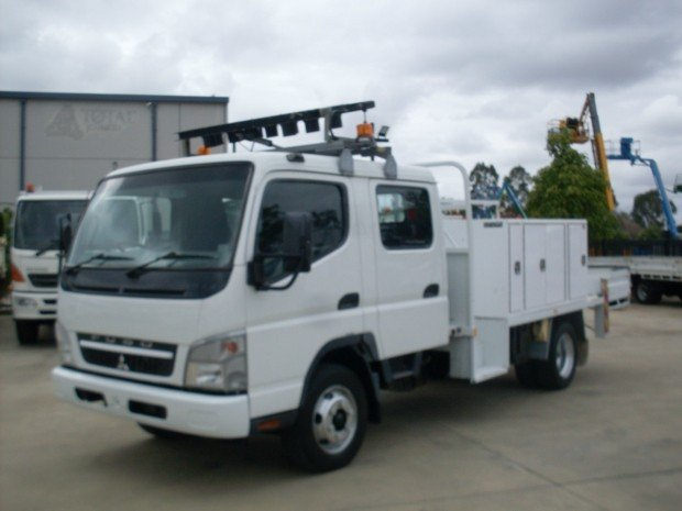 2008 Mitsubishi Canter FUSO DUAL CAB T/TOP SIDES BOX WHITE