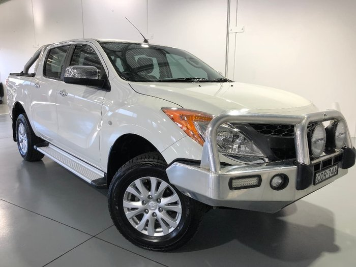 2013 MAZDA BT-50 GT UP White