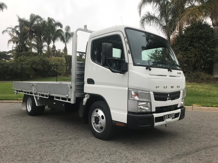 2015 Mitsubishi Canter 515 Narrow 4.5mt alloy dropside tray top White