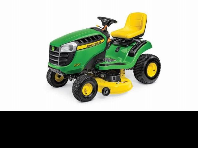 John Deere Mowers E120 Ride On Mower Green